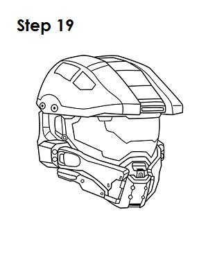 300x388 Drawn Helmet Master Chief