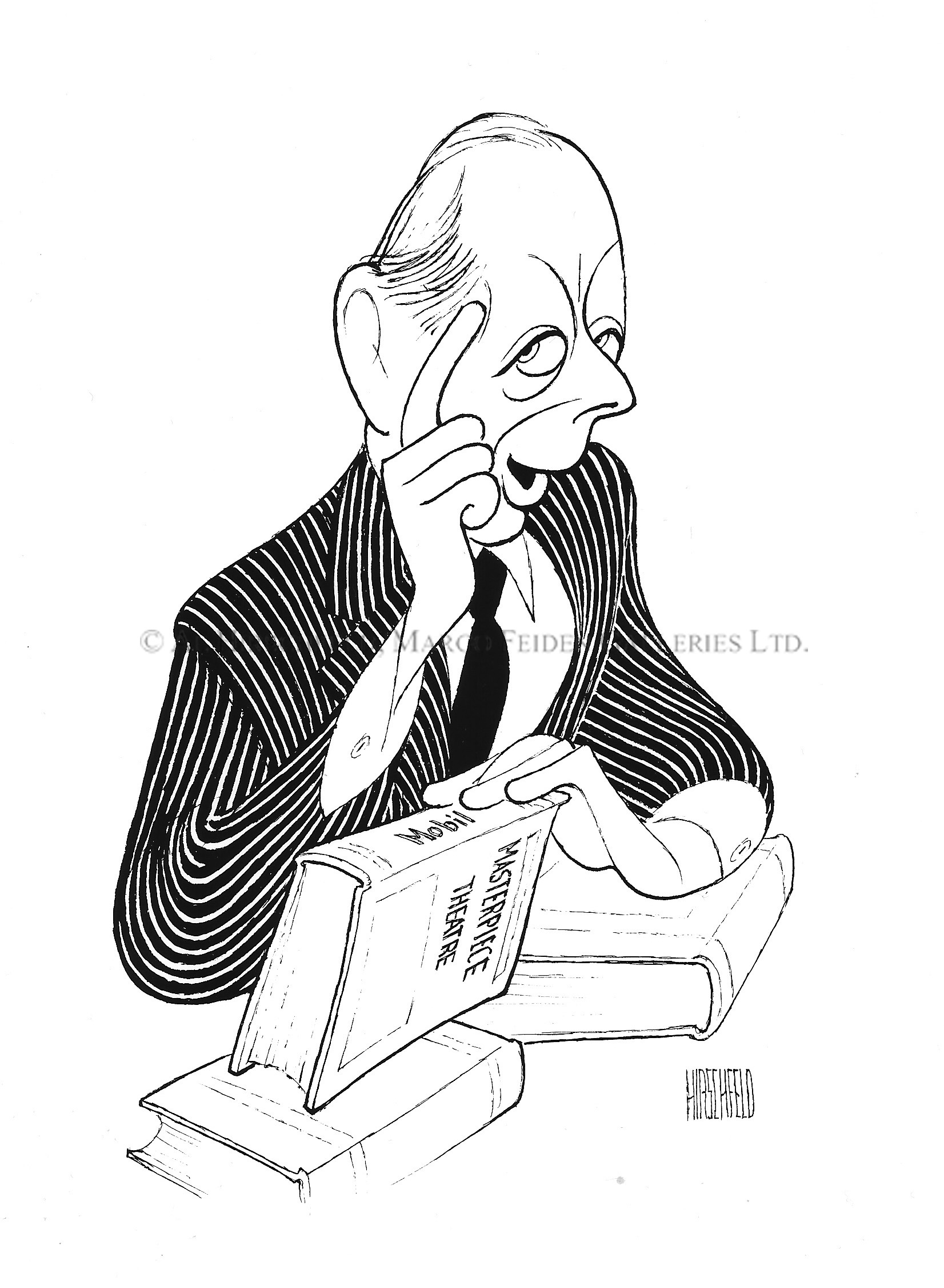 1652x2252 Alistair Cooke, Host Of ~ By Al Hirschfeld