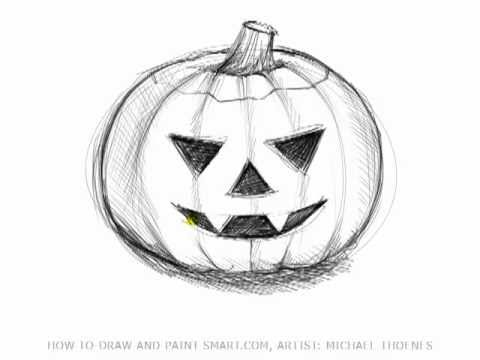 480x360 Drawing Lessons How To Draw Halloween Pictures