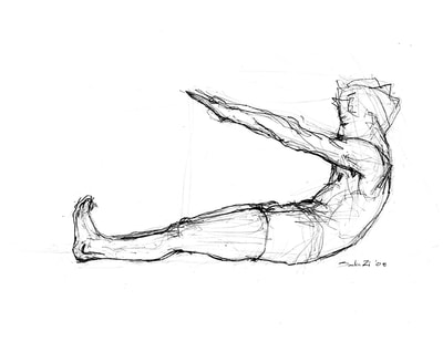 400x309 The Pilates Mat Series Drawing Project