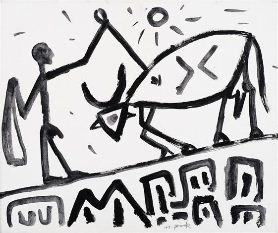 561x470 Ohne Titel Matador By A.r. Penck On Artnet