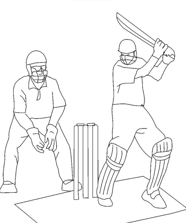 616x739 Cricket Match4 Coloring Page Amp Coloring Book