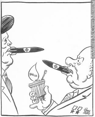 311x385 M965.199.3683 Two On A Match. Drawing, Cartoon John Collins