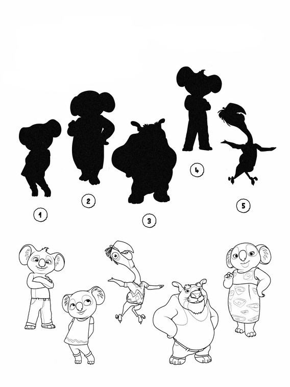 568x758 Printable Worksheets For Kids. Match The Drawings With Their
