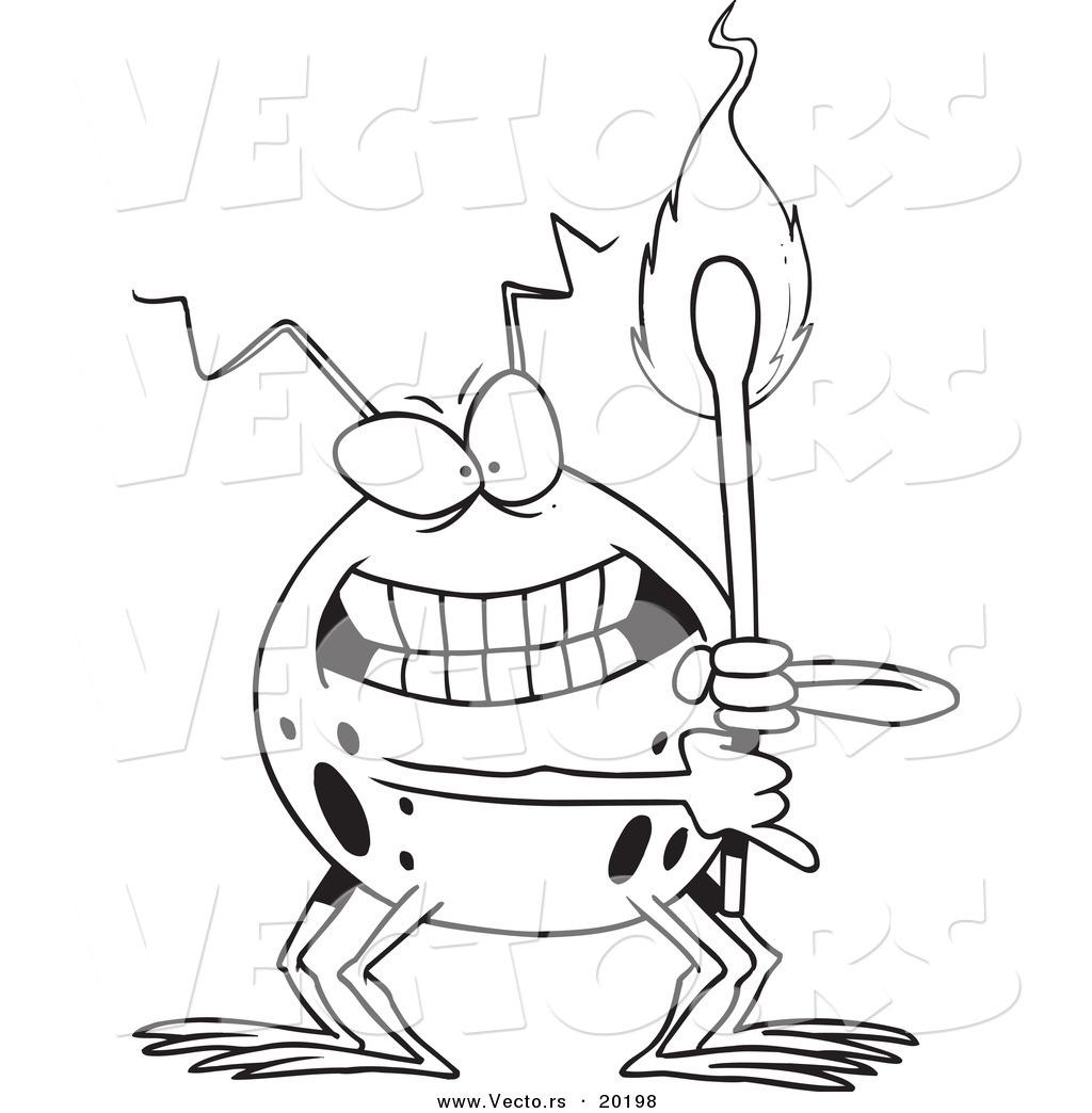 1024x1044 Vector Of A Cartoon Fire Bug Holding A Match