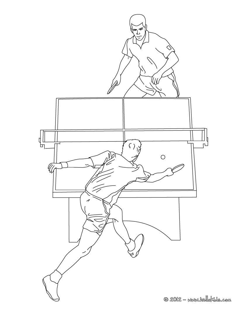 821x1061 Badminton Match Coloring Pages
