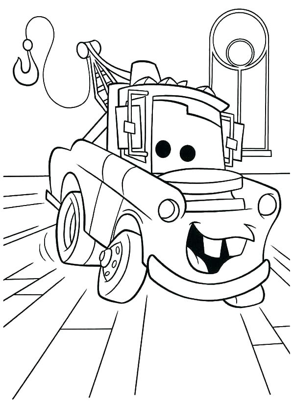 600x840 Tow Mater Coloring Pages Mater Coloring Book Mater Coloring Page