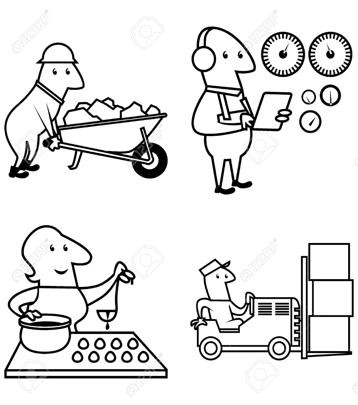 1151x1300 Collection People Work Profession, To Symbols, Professional