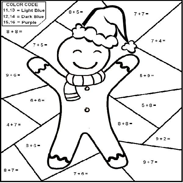 600x600 Coloring Pages With Math Problems Christmas Coloring Pages Math