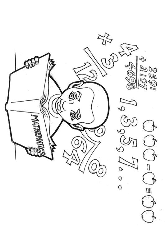 531x750 Coloring Page Studying Mathematics