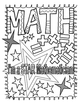 270x350 Math And Reading Doodle Coloring Pages By Heather Jackson Tpt
