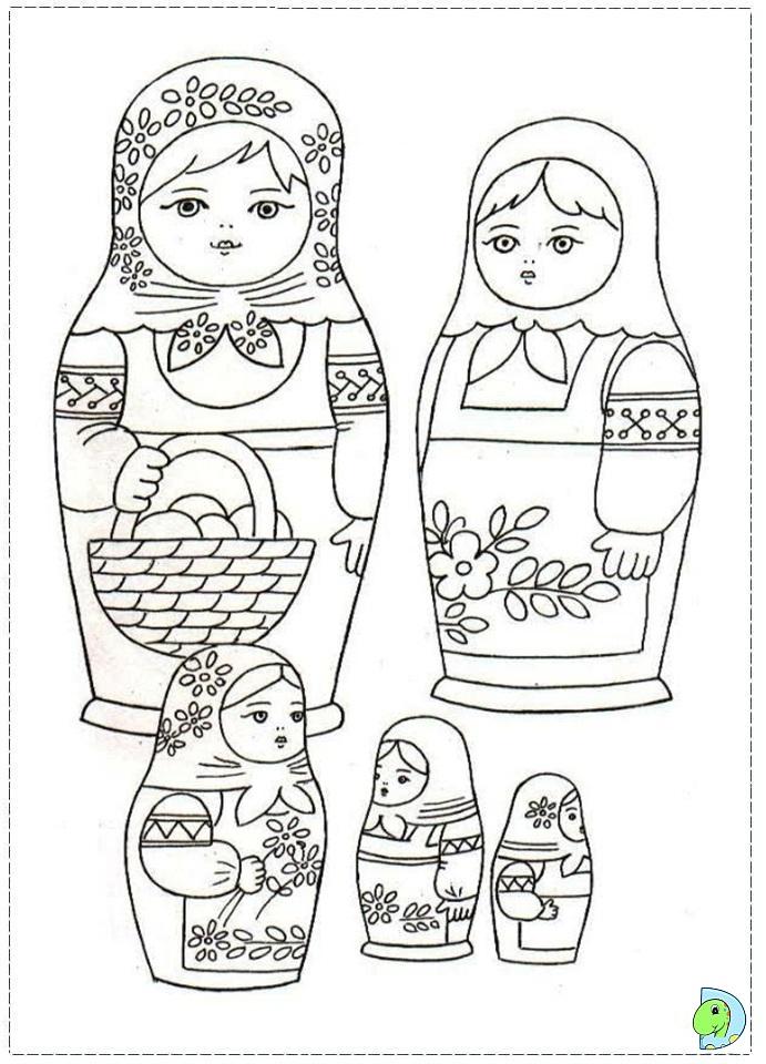 691x960 Matryoshka Coloring Page
