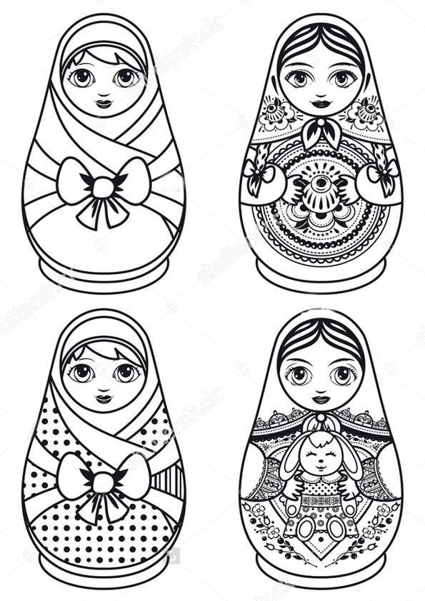 Matryoshka Doll Drawing