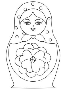 236x314 Russian Doll, Matrioshka, Matryoshka On Patterned Background, Hand