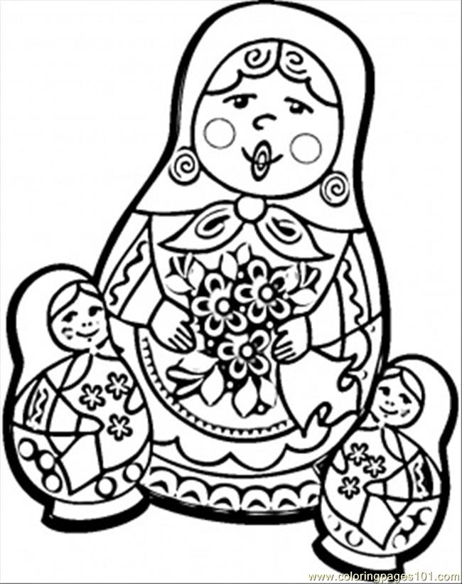 650x821 Pics Of Russian Fl On Matryoshka Russian Nesting Doll Coloring