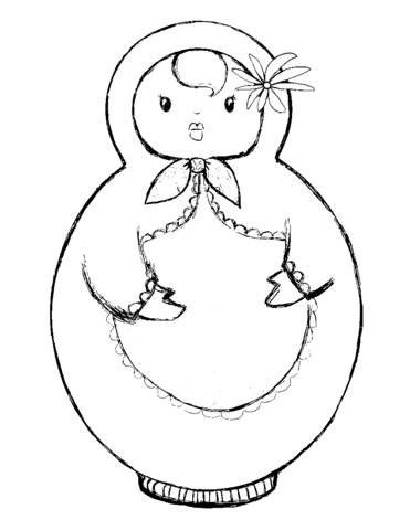 371x480 Russian Doll, Matryoshka Coloring Page Free Printable Coloring Pages