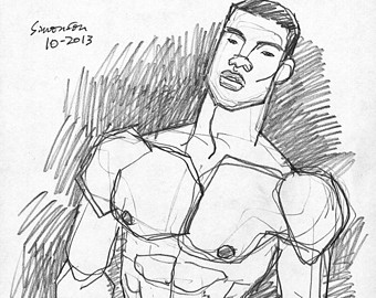 340x270 Naked Youth Sketch Etsy