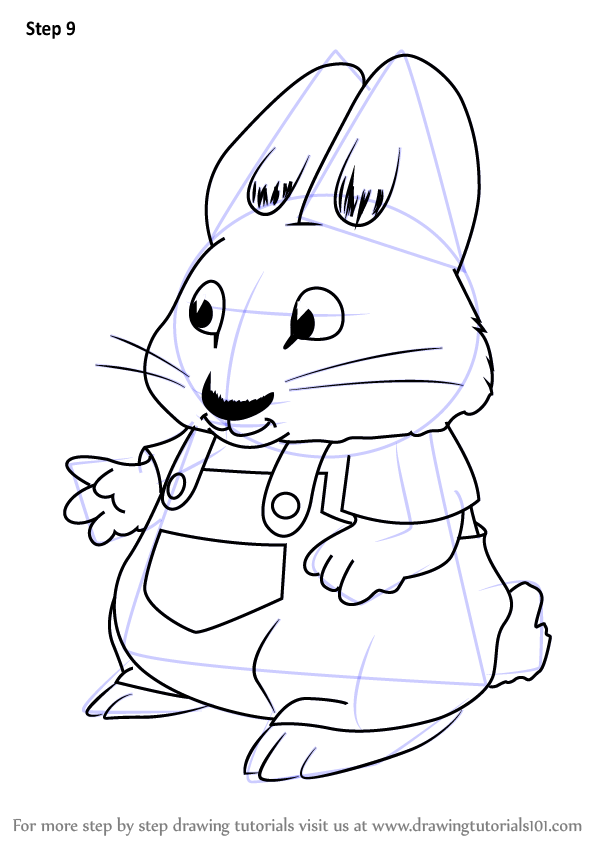 598x844 Learn How To Draw Morris From Max And Ruby (Max And Ruby) Step By
