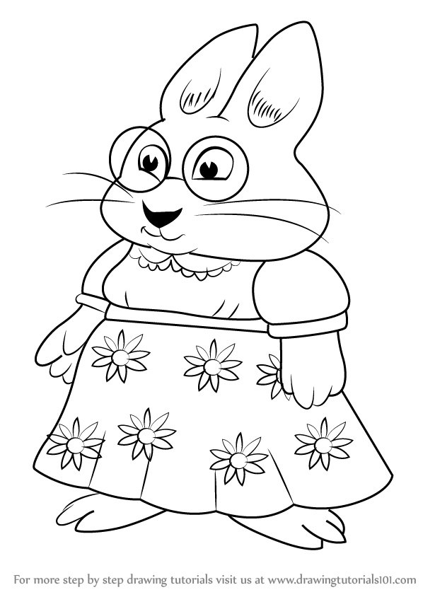 598x844 Learn How To Draw Valerie From Max And Ruby (Max And Ruby) Step By
