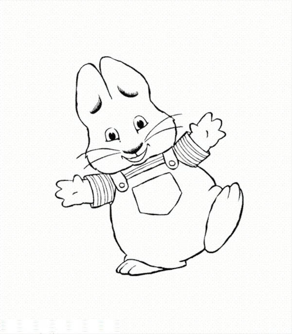 600x685 Max Is Si Happy In Max And Ruby Coloring Page Coloring Sky