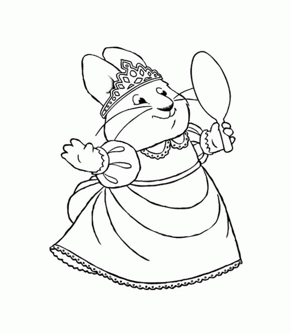 600x686 Ruby Wear Beautiful Tiara In Max And Ruby Coloring Page Coloring Sky