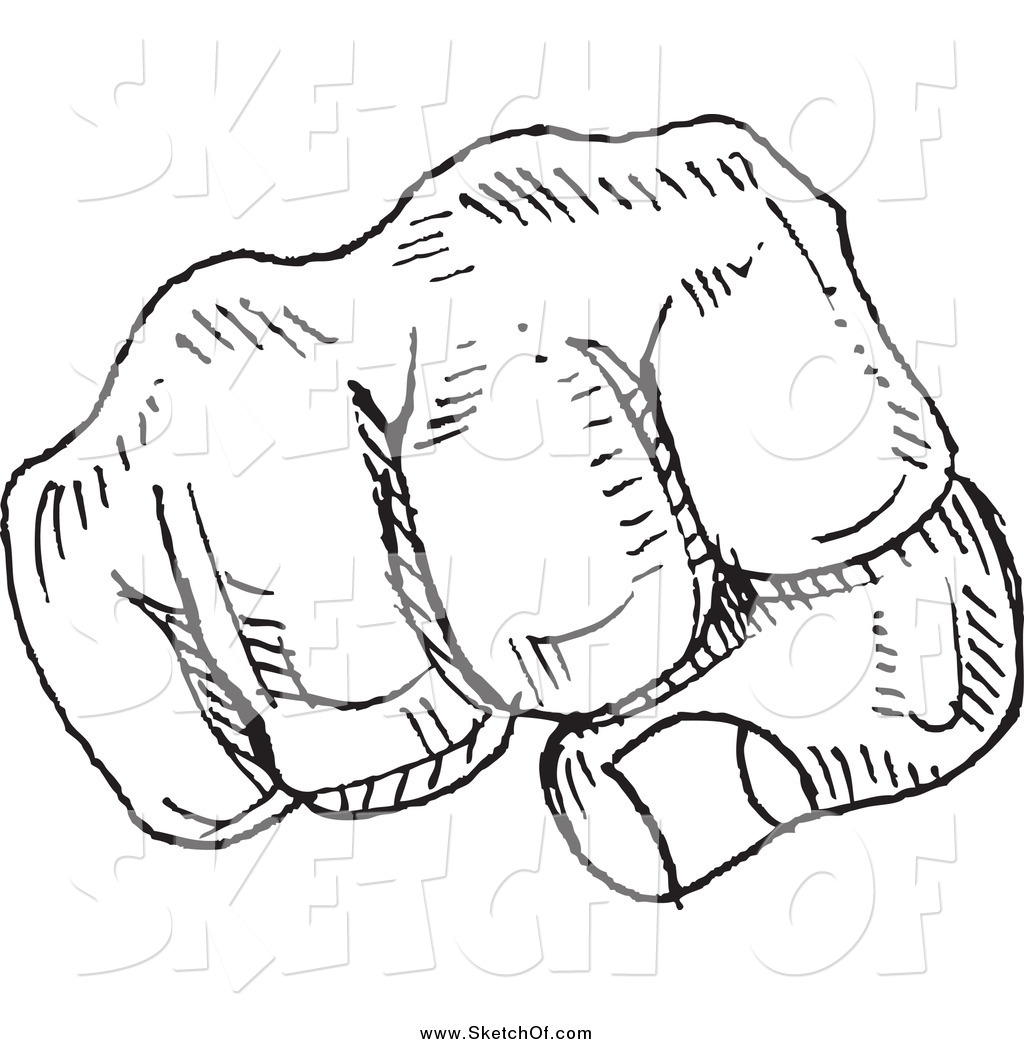 1024x1044 Drawing Of A Black And White Fist Sketch By Yayayoyo