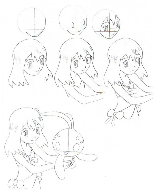 600x752 How To Draw May Part 1 By Eternash