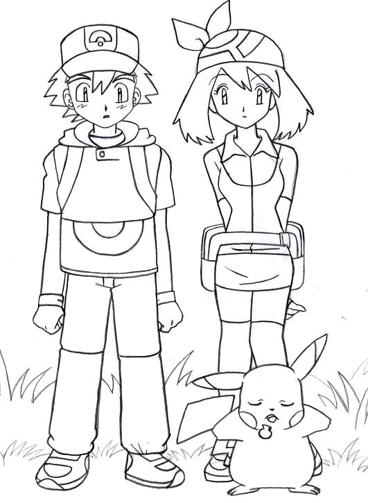 531x725 Pokemon Ash And Pikachu Drawing Sketch Make By Sammar