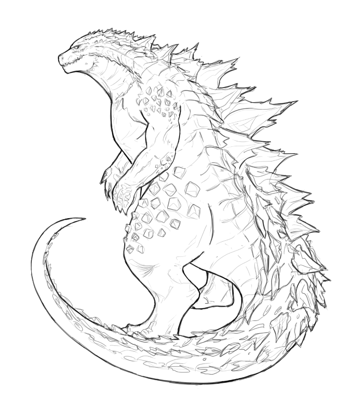 740x834 A Drawing I Made In Anticipation For The New Godzilla Film Coming