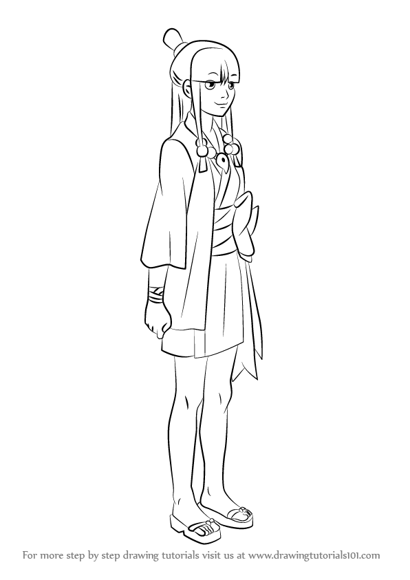 596x843 Learn How To Draw Maya Fey From Ace Attorney (Ace Attorney) Step