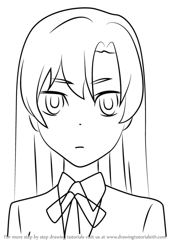 567x800 Learn How To Draw Maya Kihara From Toradora! (Toradora!) Step By