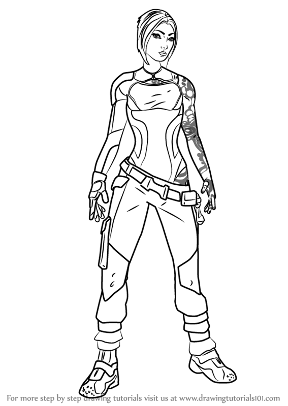 567x800 Learn How To Draw Maya From Borderlands (Borderlands) Step By Step