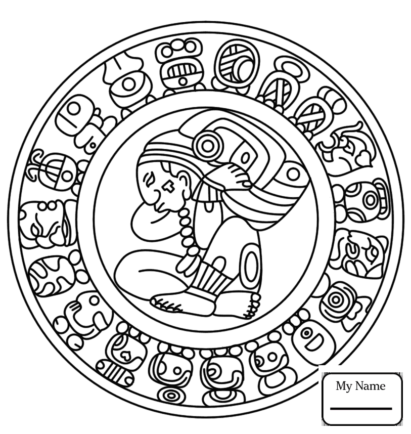 813x858 3d Maya Month Sip History Coloring Pages For Kids
