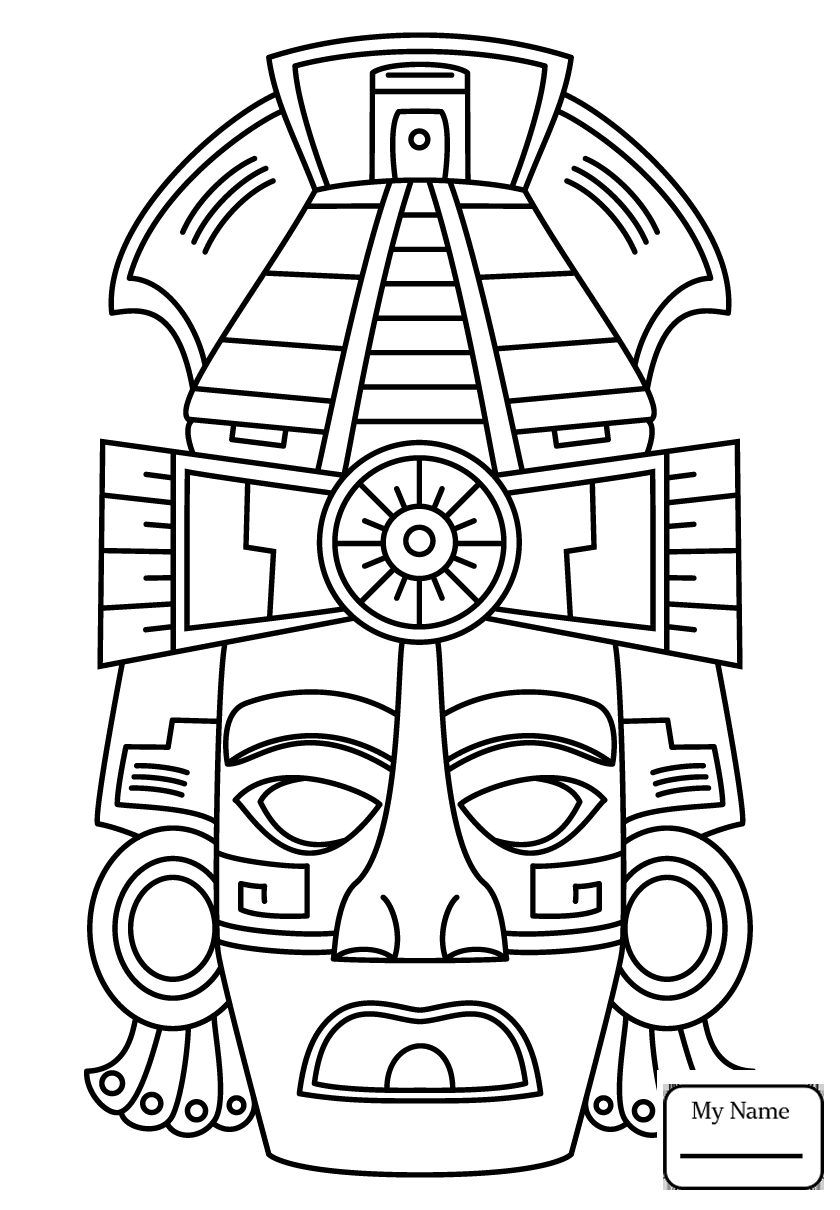 840x1210 Coloring Pages For Kids 5th Maya Month Sek History