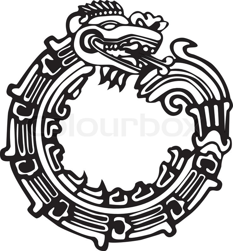 740x800 Aztec Maya Dragon