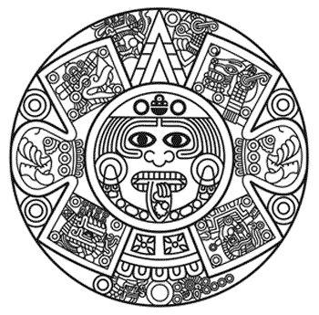 350x345 Aztec Clipart Simple