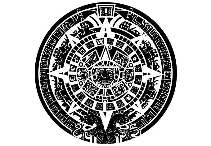 680x472 Mayan Calendar Wall Sticker
