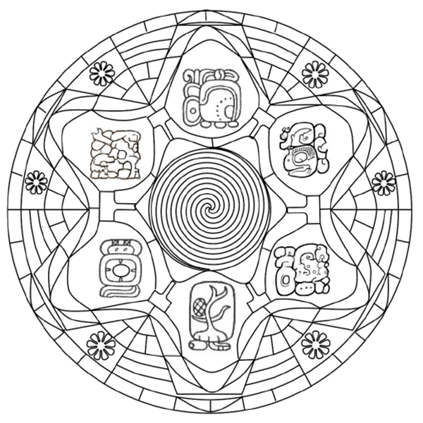 600x600 Mayan Mythology Colouring Book By Leptir House