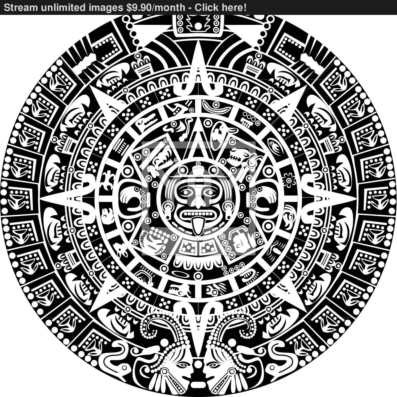 1600x1600 Mayan Calendar Vector
