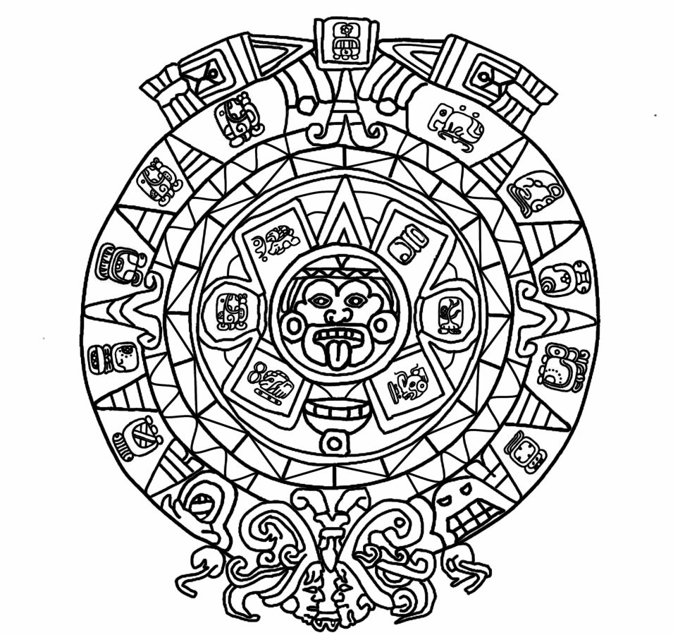 955x900 Mayan Mythology Colouring Book For Adults By Leptir House