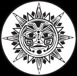 307x304 Sun Clipart Mayan