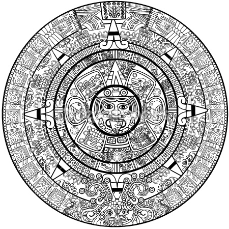 450x450 Vector Maya Calendar By Natalia Lukiyanova