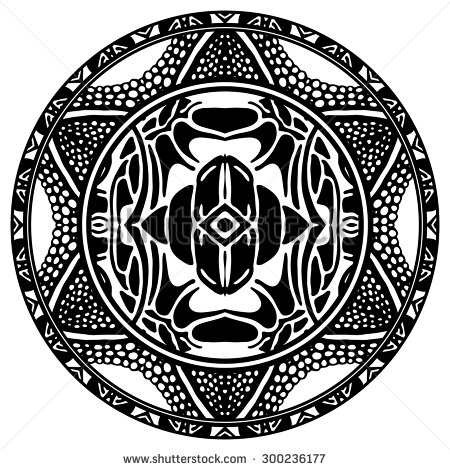 450x470 Vector Ornamental Circle Reminiscent Of The Mayan Calendar