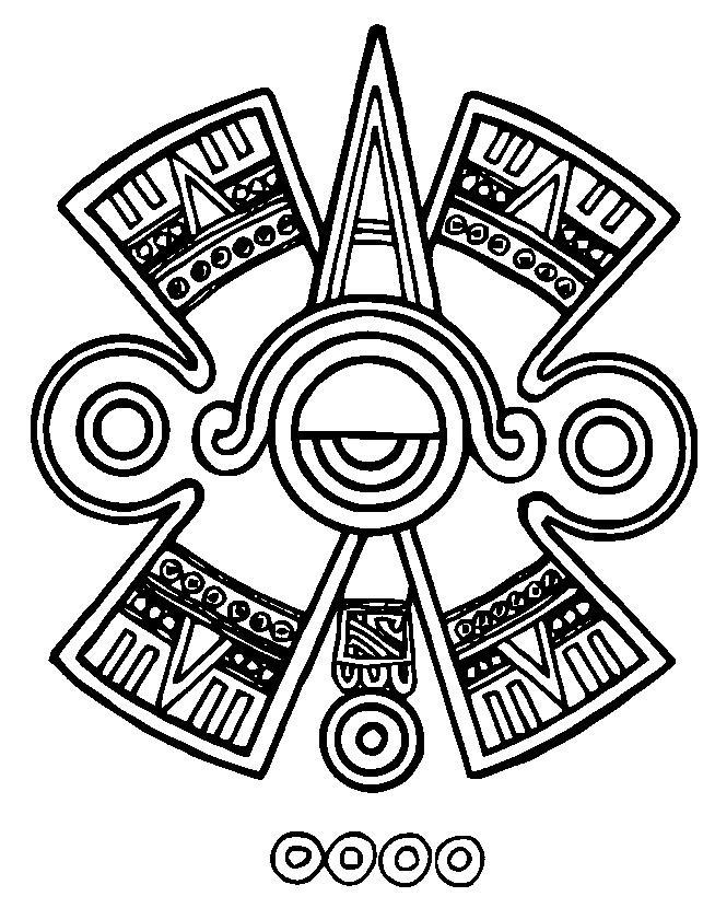 654x830 Mayan Civilization Coloring Page 5