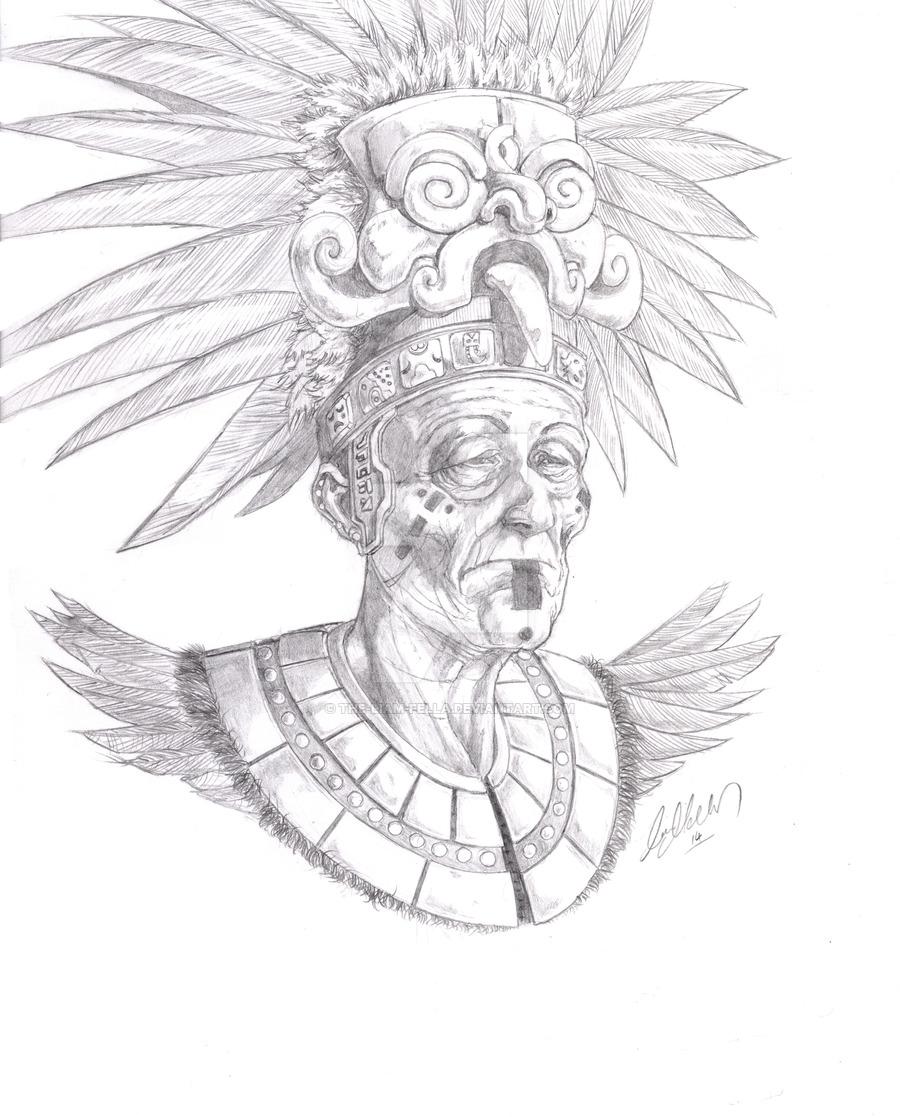 900x1117 Mayan High Priest By The Liam Fella