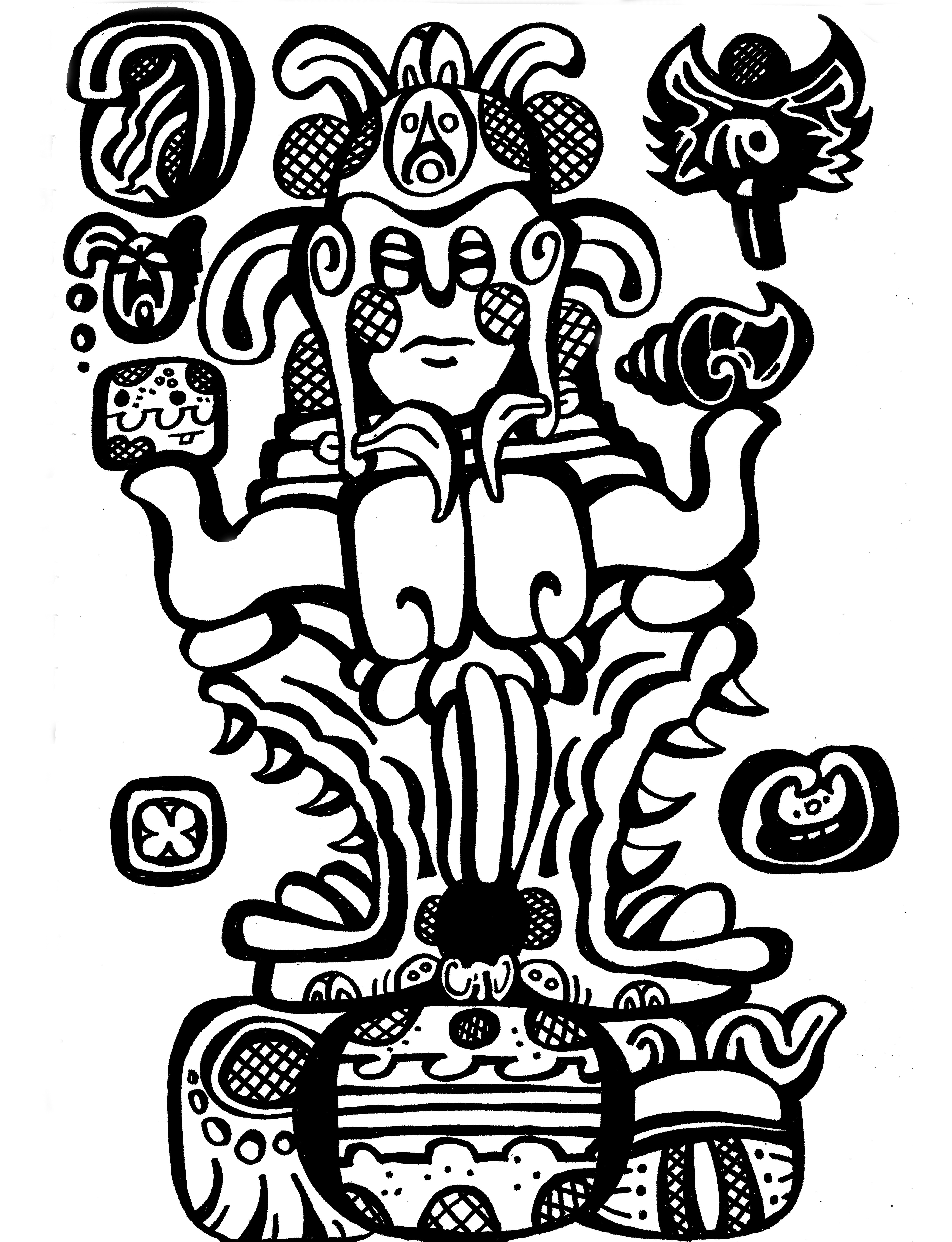 5433x7087 Mayan Jester God By Brendanpickett