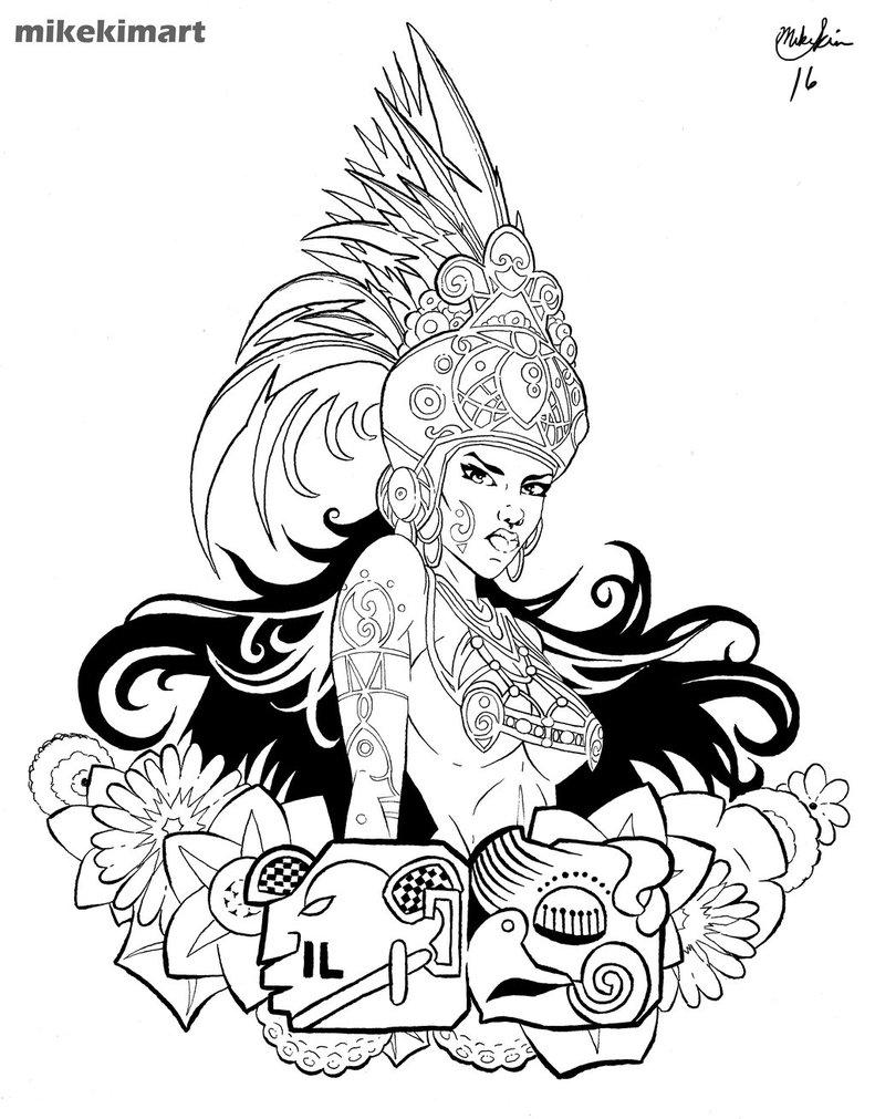 791x1011 Mayan Women By Mikekimart