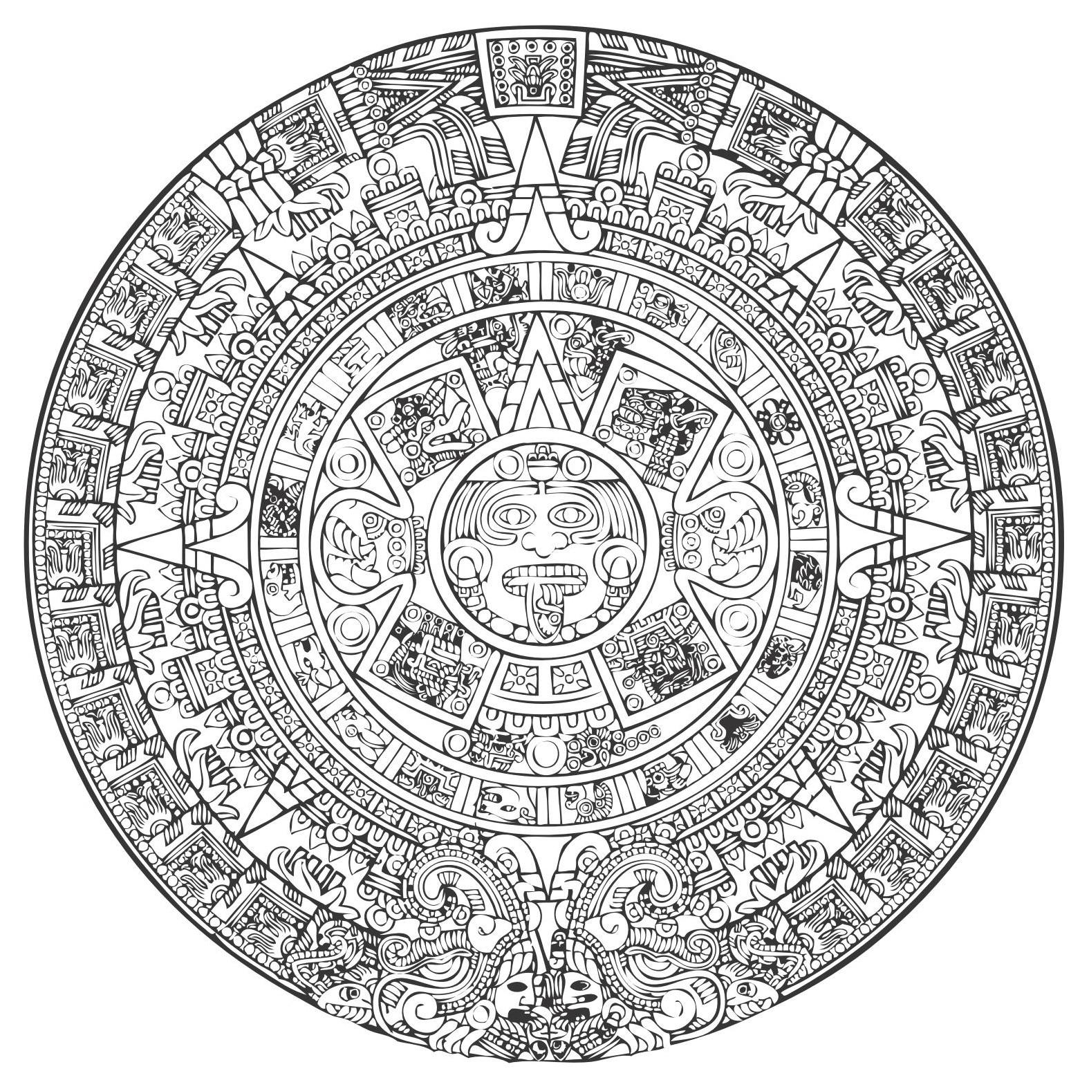 1575x1575 Mayan Clipart Aztec Sun