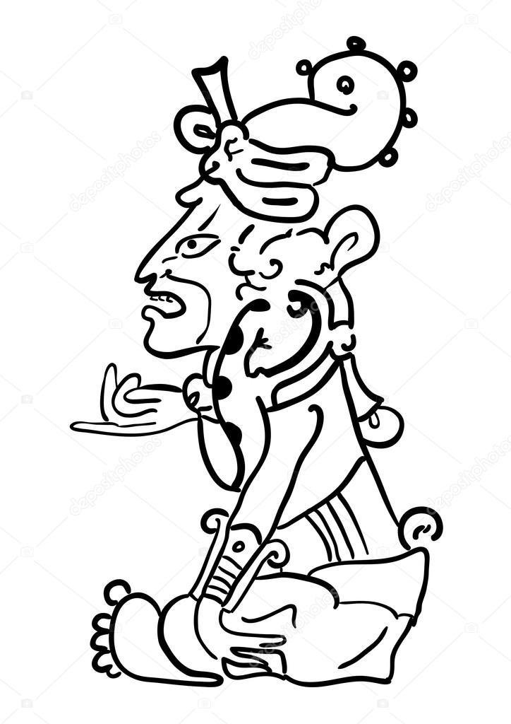724x1024 Vector Maya Image Of The Deity Stock Vector Wasja