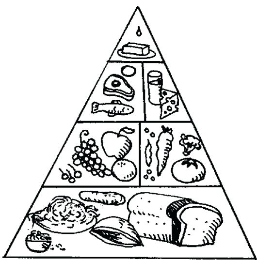 530x537 Pyramid Coloring Pages Coloring For Kids Food Pyramid Coloring